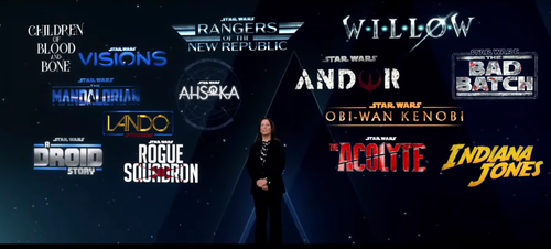 LucasFilm President Kathleen Kennedy presented today's influx of Star Wars news