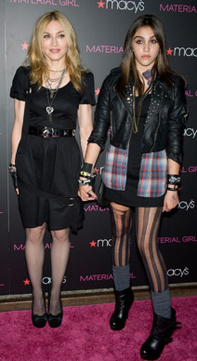Lourdes Leon has quite big shoes to fill – literally – in her quest to be a style icon. The precocious little princess has teamed up with fellow celeb offspring Kelly Osborne and launched her own fashion line called Material Girls, which takes inspiration squarely from the fashions of her mum's heyday, the 1980s. She should find plenty of inspiration while rummaging through the back of Madge's closet, but has so far wisely avoided trying to bring back the conical bra.