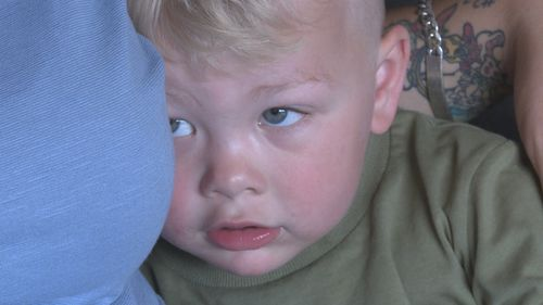 Two-year-old Abel was trapped in a storeroom at childcare last Friday.