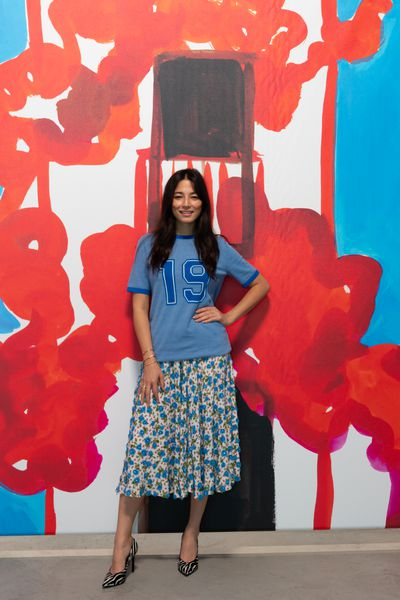Aussie model Jessica Gomes at the Michael Kors Spring 2019 show for New York Fashion Week, September 12, 2018