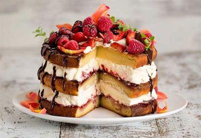 Carolyn Hartz's sugar-free vanilla layer cake