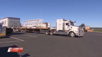 Truckies battle for toilet pitstop