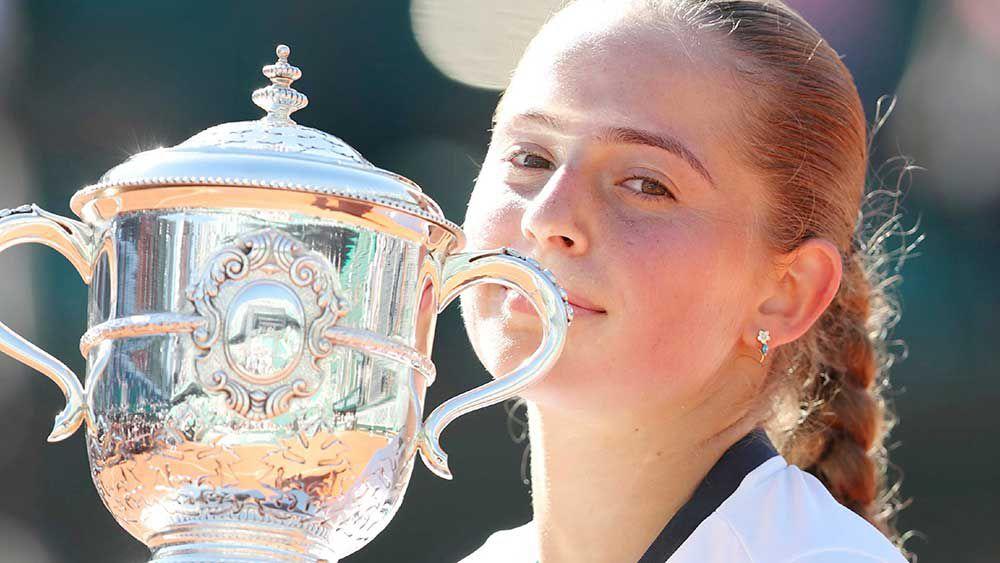 Jelena Ostapenko has won her maiden grand slam title. (AAP)