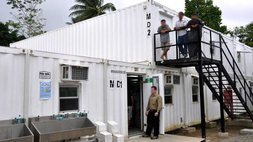 The Manus Island dining hall.