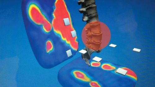 The interactive 3D visualisation created by data from the smart chair. (Supplied, Dr Stephen Wang)