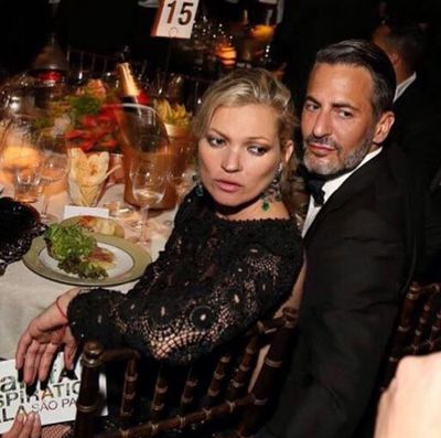 Kate Moss cosies up to Marc Jacobs