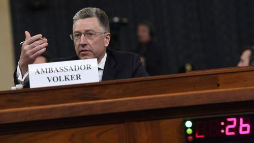 Kurt Volker testifies before Congress.