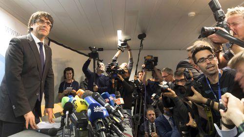 Carles Puigdemont. Image:AP Photo/Olivier Matthys