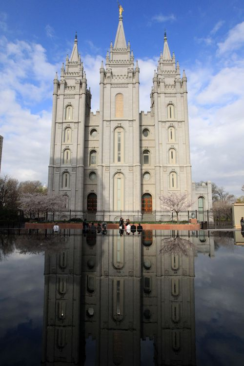 The Salt Lake Temple is shown during opening session of the two-day Church of Jesus Christ of Latter-day Saints church conference, in Salt Lake City.
