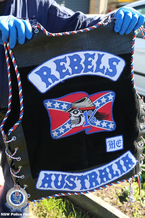 Police located Rebels colours during the raids.