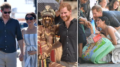 Romantic stroll and walkabout with locals sums up royal day in paradise