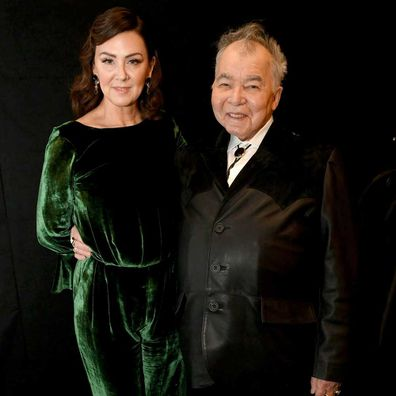 John Prine and his wife Fiona Whelan at the 62nd Annual Grammy Awards.