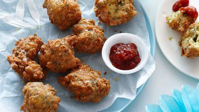"""<a href=""""http://kitchen.nine.com.au/2016/05/13/13/32/cheese-and-herb-beignets"""" target=""""_top"""">Cheese and herb beignets</a><br /> <br /> <a href=""""http://kitchen.nine.com.au/2016/06/06/21/18/easy-gourmet-finger-food"""" target=""""_top"""">More gourmet finger food recipes</a><br /> <br />"""