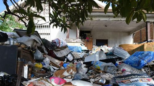 The Bondi hoarders' house was supposed to go to auction again this afternoon.