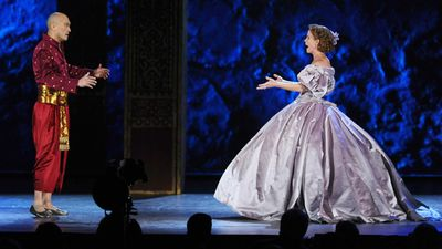 Ken Watanabe and Kelli O'Hara perform a duet from 'The King and I'. (AAP)