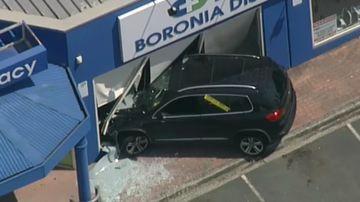 Car smashes into Melbourne pharmacy