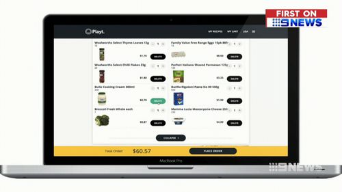 Playt promises to make online grocery shopping a breeze. (9NEWS)