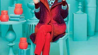 Iris Apfel launches a furniture collectionn as colourful as you'd expect