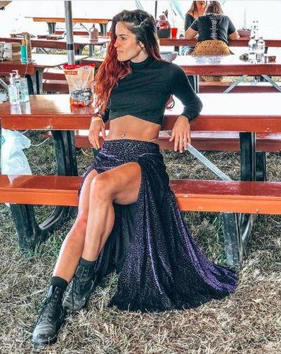 Former Bachelor star Elora Murgerat Byron Bay's Splendour in the Grass July 2018