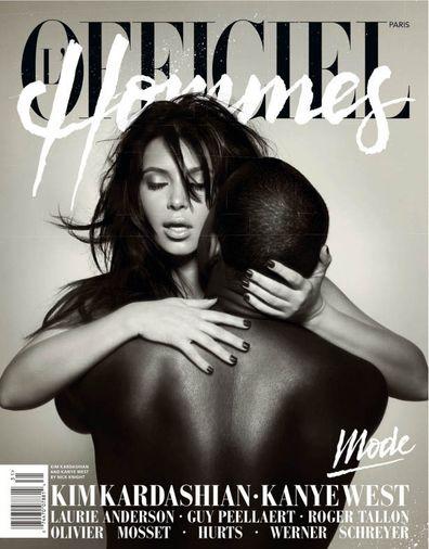 Kim Kardashian, Kanye West, relationship timeline, L'Officiel Hommes, 2013