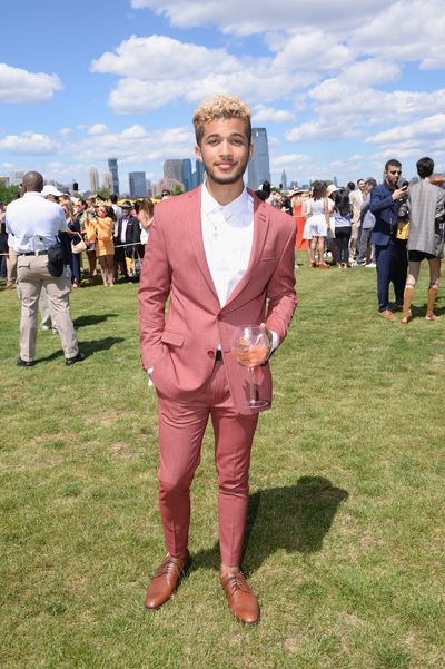 Singer Jordan Fisher at the Veuve Clicquot Polo Classic in New York.