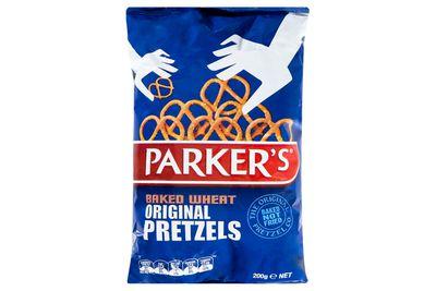 Parker's baked wheat original pretzels: at least 502kj/120 calories