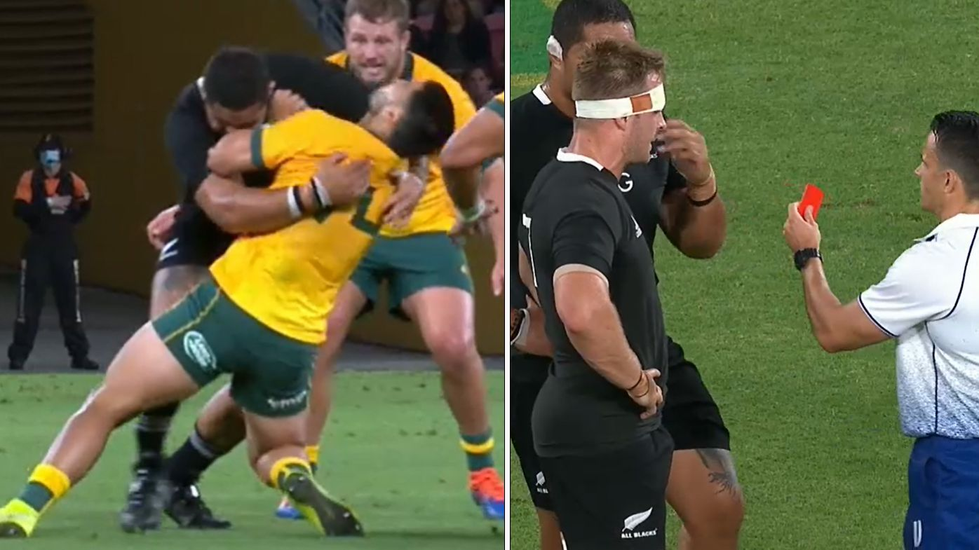'It's ruining the game': Red card chaos sparks debate after 'wild' Wallabies win over All Blacks