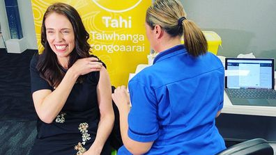 Jacinda Ardern gets her second COVID-19 vaccination