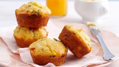 """Recipe:<a href=""""http://kitchen.nine.com.au/2016/05/17/10/39/corn-and-polenta-muffins"""" target=""""_top"""">Corn and polenta muffins</a>"""