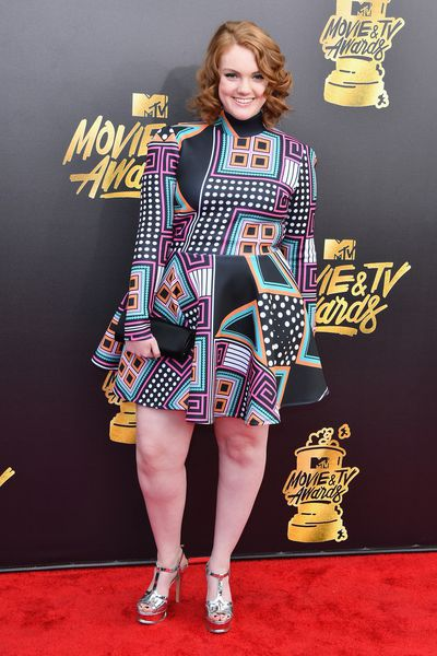 Actress Shannon Purser in Rue 107 at the 2017 MTV Movie & TV Awards in Los Angeles