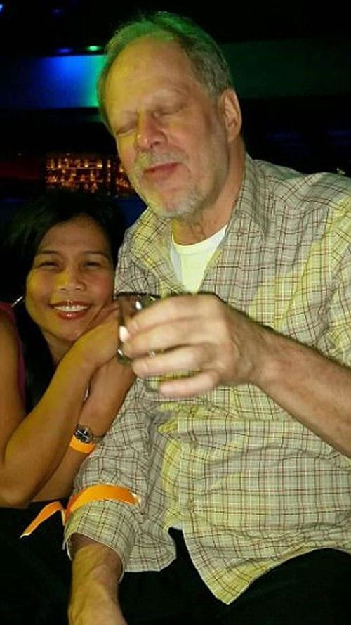 Stephen Paddock and girlfriend Marylou Danley, who became a suspected accomplice in the shooting which killed 58 people. (Supplied)