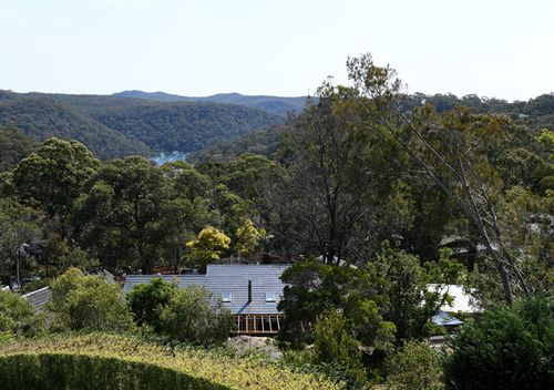 A general view of the former home of missing woman Lynette Dawson, at Bayview on the northern beaches in Sydney.