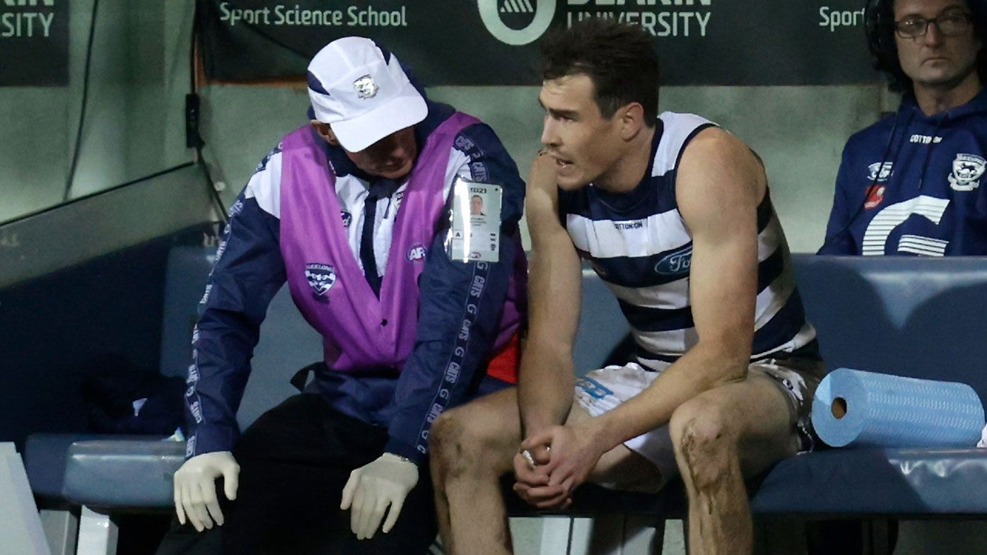 Jeremy Cameron suffers another hamstring injury after pre-match fitness test against Essendon