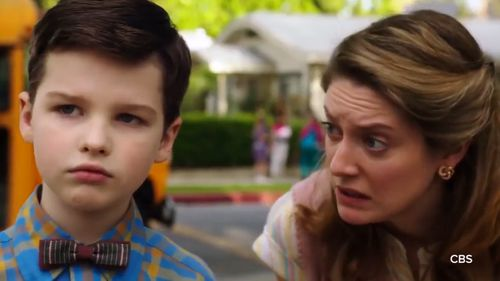 Sheldon's mum Mary (right) is played by Zoe Perry - the real-life daughter of Laurie Metcalf who plays an older version of Sheldon's mother in 'Big Bang Theory'.