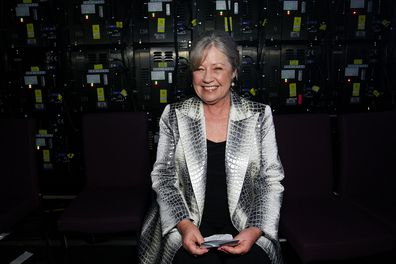 Noni Hazlehurst prepares to go on stage during the 7th AACTA Awards Presented by Foxtel at The Star on December 6, 2017 in Sydney, Australia.