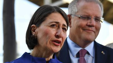 Gladys Berejiklian denied the Morrison government was weighing NSW Liberals down.