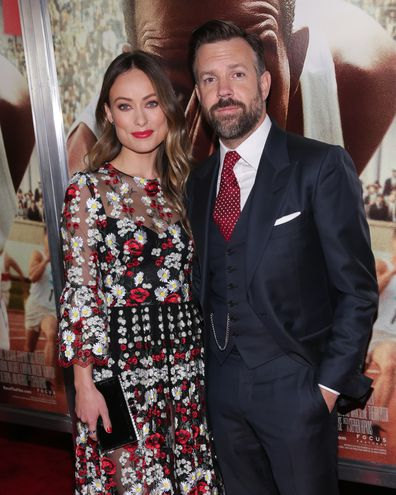 "Olivia Wilde and actor Jason Sudeikis attend the ""Race"" New York screening held at Landmark's Sunshine Cinema on February 17, 2016 in New York City."