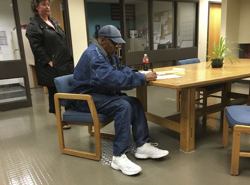The football legend has been released from prison after nine years. (AP)