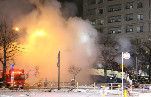 The explosion occurred in Sapporo, the capital city of Japan's northern main island of Hokkaido, and caused nearby apartment buildings and houses to shake.