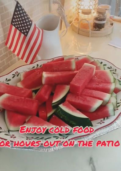 Watermelon ice tray