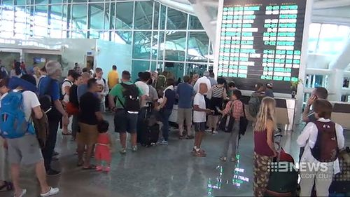 Jetstar is unable to fly passengers out of Bali as they do not have any aircraft there. (9NEWS)