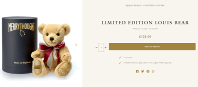 Even Prince Louis has a teddy bear this year.