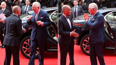 Prince Charles avoids handshake at Prince's Trust Awards in London and does a Namaste instead