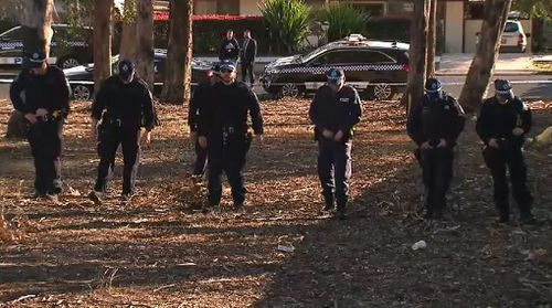 Police have spent the morning combing through the park where the victim was attacked.