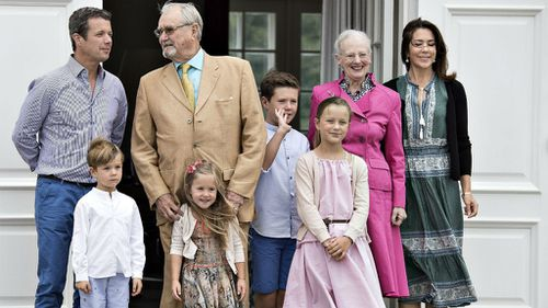 Denmark's Crown Princess Mary and family beam in annual photograph