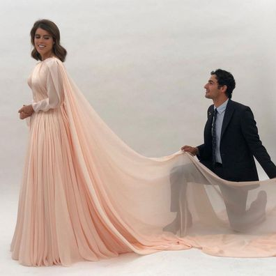 Princess Eugenie with designer Zac Posen