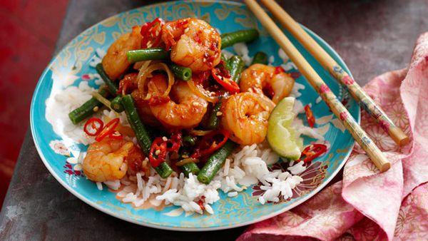 Malaysian sambal prawns