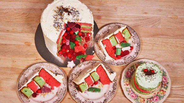 Celebration lolly layer cake recipe