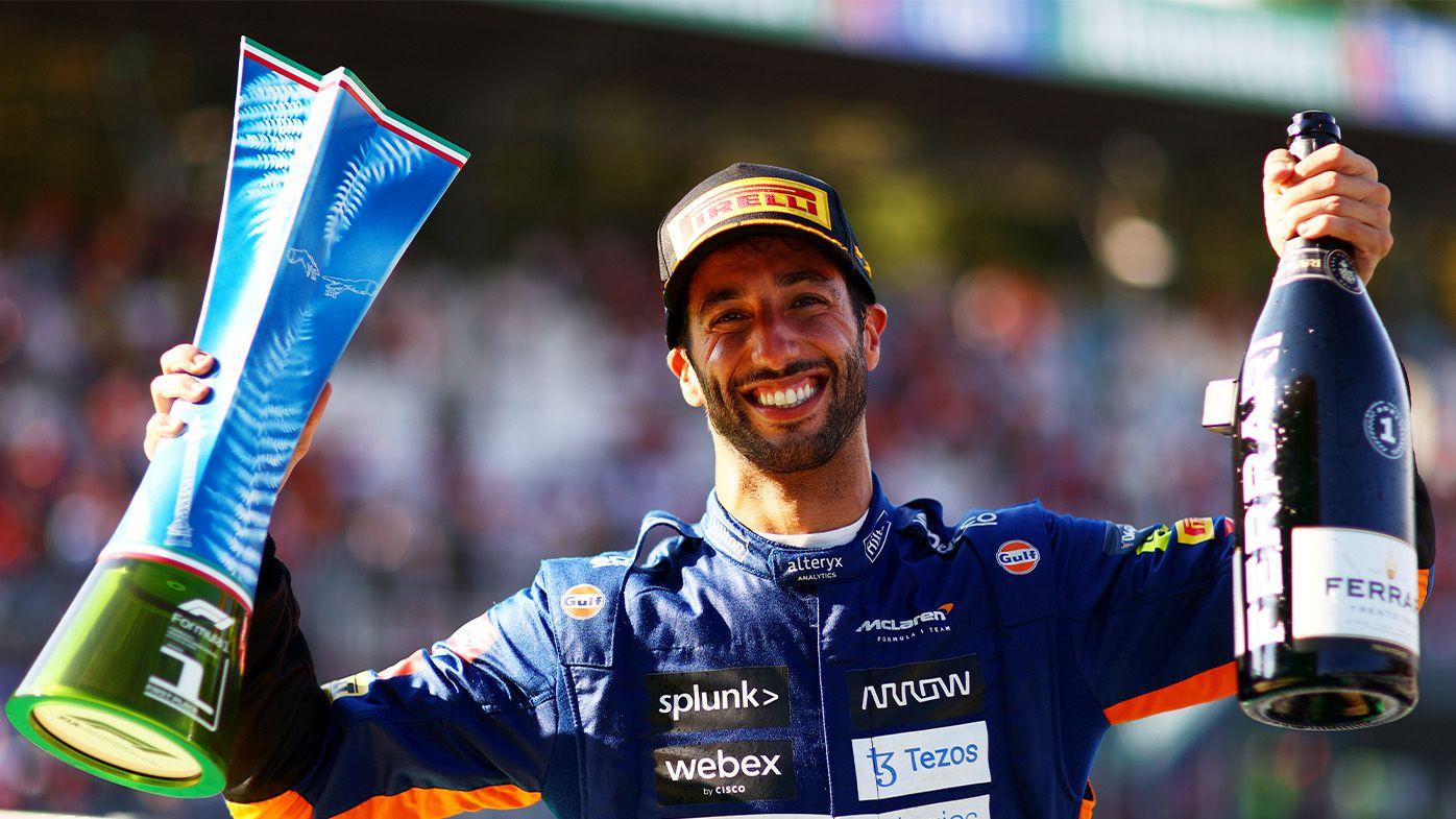 Daniel Ricciardo honours Formula 1 legend Ayrton Senna in 'surreal' moment following Monza win