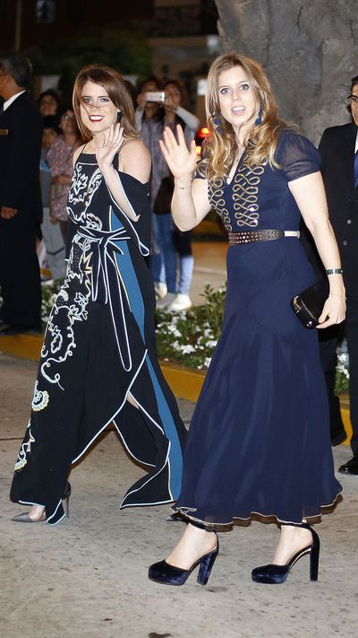 PrincessesBeatrice and Eugenie attend the wedding of Prince Christian